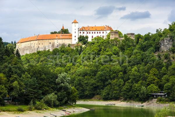 Bitov Castle with Vranovska Dam, Czech Republic Stock photo © phbcz
