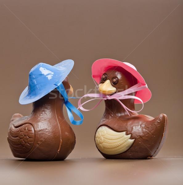 Пасху шоколадом Sweet нездоровый коричневый два Сток-фото © phbcz