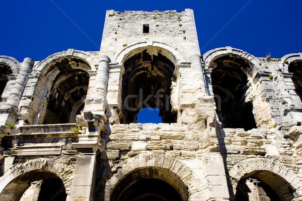 Roman Amphitheatre, Arles, Provence, France Stock photo © phbcz