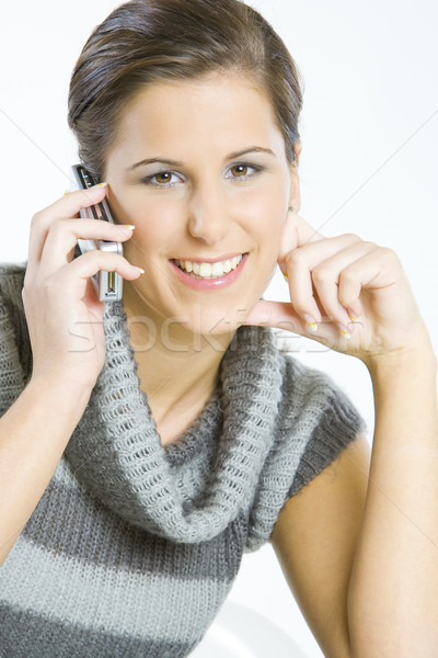 portrait of telephoning woman Stock photo © phbcz