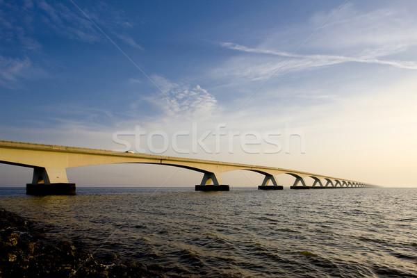 Nederland gebouw brug reizen architectuur boog Stockfoto © phbcz