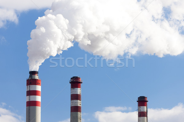 Centrale industrie énergie pouvoir usine électricité Photo stock © phbcz