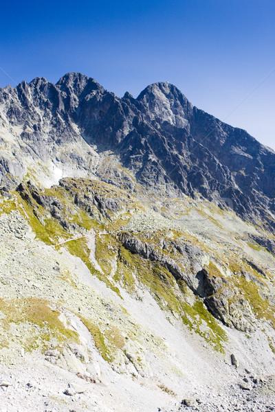 Boşluk yüksek dağ seyahat dağlar park Stok fotoğraf © phbcz
