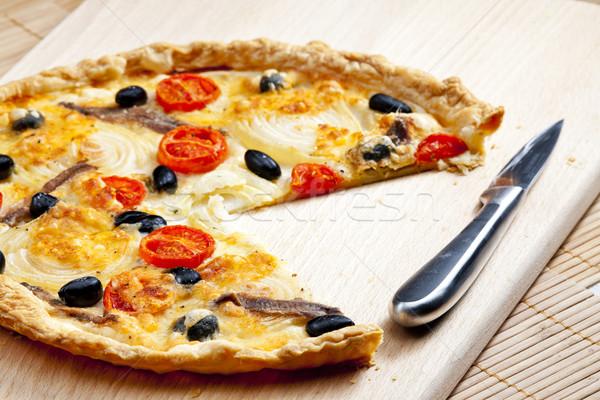 торт помидоры черри маслины пластина овощей оливкового Сток-фото © phbcz