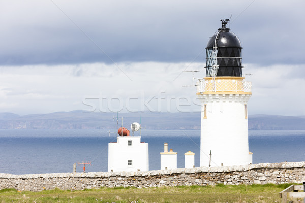 Dunnet Head Lighthouse with Orkney in the background, Highlands, Stock photo © phbcz