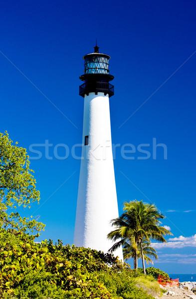 Cape Florida Lighthouse, Key Biscayne, Miami, Florida, USA Stock photo © phbcz