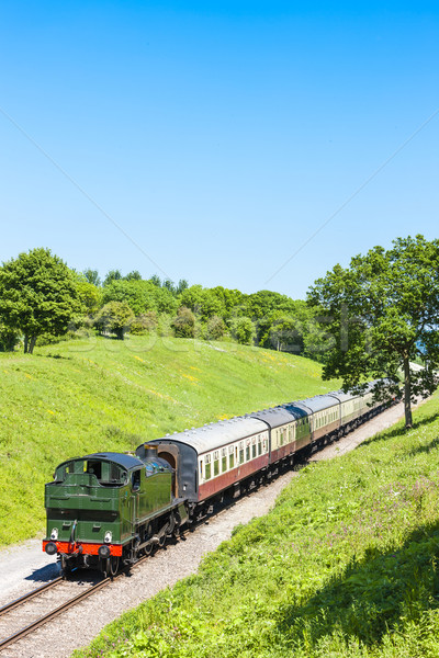 Vapeur train chemin de fer Voyage Europe Angleterre Photo stock © phbcz