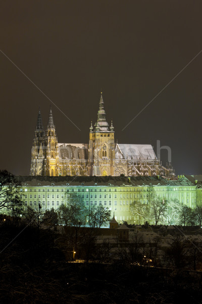 Prague Castle at night, Czech Republic Stock photo © phbcz