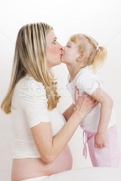 Ritratto bambina incinta madre donne bambino Foto d'archivio © phbcz