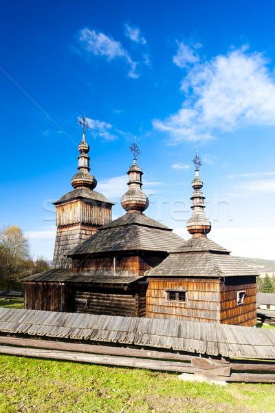wooden church, Museum of Ukrainian village, Svidnik, Slovakia Stock photo © phbcz