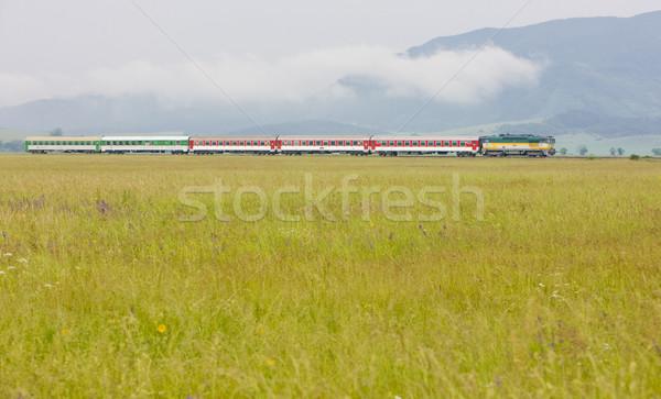 Treno Slovacchia viaggio motore trasporto treni Foto d'archivio © phbcz