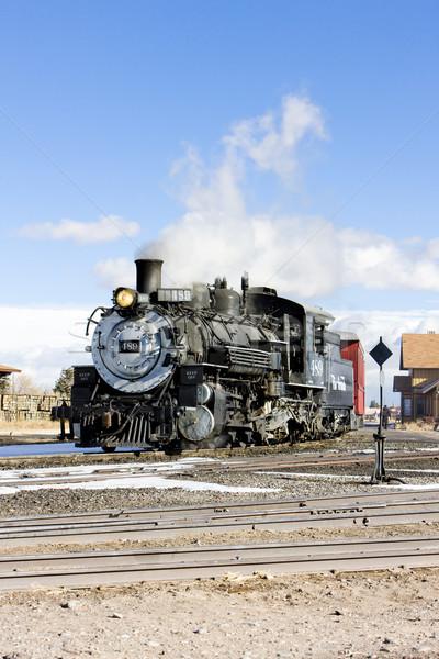 Cumbres and Toltec Narrow Gauge Railroad, Antonito, Colorado, US Stock photo © phbcz