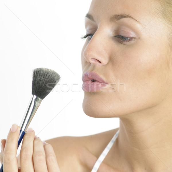 Make-up vrouw gezicht schoonheid gezichten jonge Stockfoto © phbcz