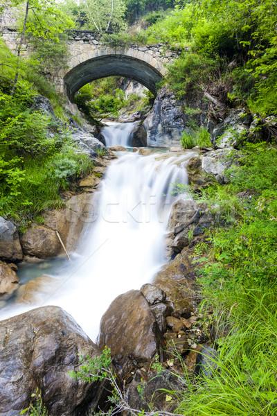 waterfall near Sambuco, Piedmont, Italy Stock photo © phbcz