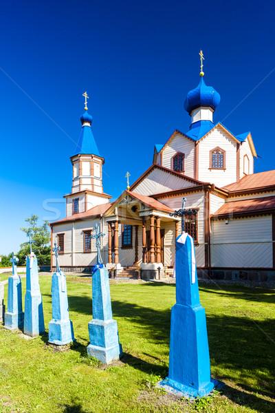 Legno ortodossa chiesa santo architettura Europa Foto d'archivio © phbcz