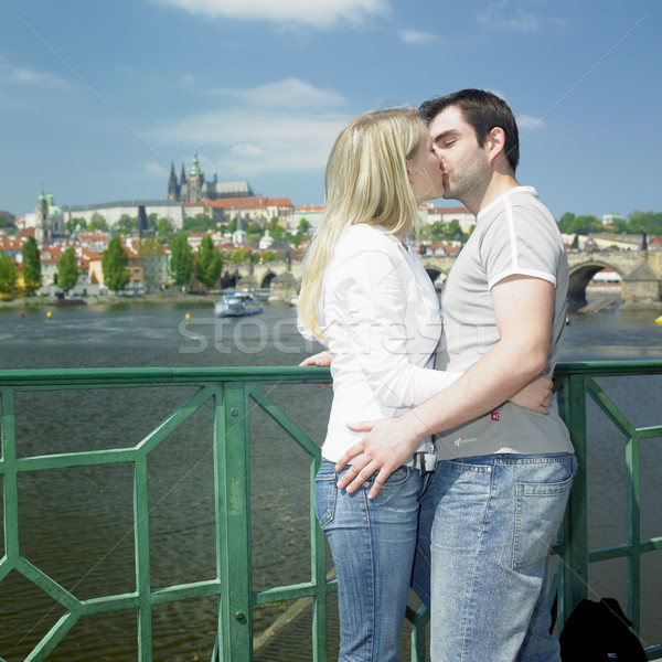 couple in Prague, Czech Republic Stock photo © phbcz