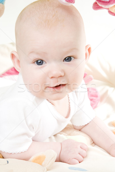 baby girl's portrait Stock photo © phbcz