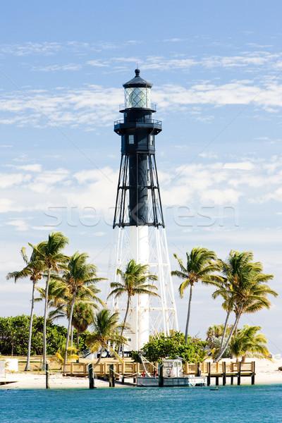 Hillsboro Lighthouse, Pompano Beach, Florida, USA Stock photo © phbcz