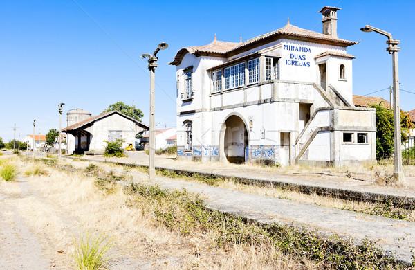 Treinstation Portugal architectuur Stockfoto © phbcz