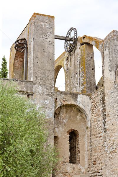 арабский мельница колесо Португалия архитектура история Сток-фото © phbcz