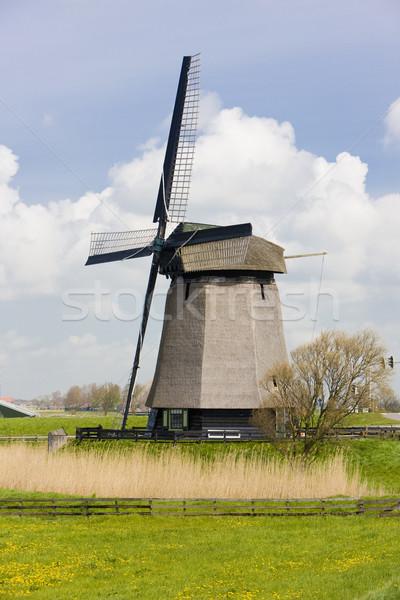 風車 オランダ 旅行 ミル 屋外 外 ストックフォト © phbcz