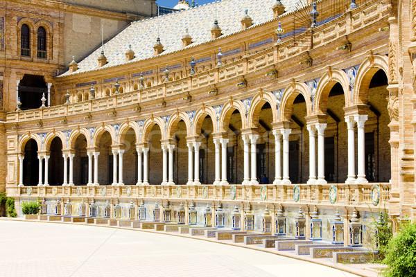 Hiszpanski placu Hiszpania budynku świat architektury Zdjęcia stock © phbcz