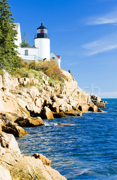 Bass Harbor Lighthouse, Maine, USA Stock photo © phbcz