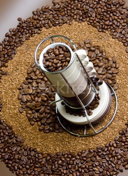 Zdjęcia stock: Kawy · martwa · natura · żywności · Kafejka · wnętrza · napojów