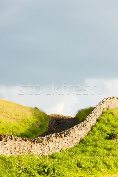 пейзаж Шотландии стены Европа газона молчание Сток-фото © phbcz