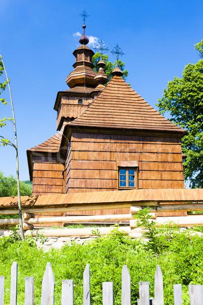 wooden church, Fricka, Slovakia Stock photo © phbcz
