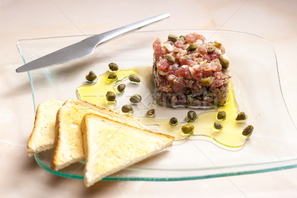 tuna tartar Stock photo © phbcz