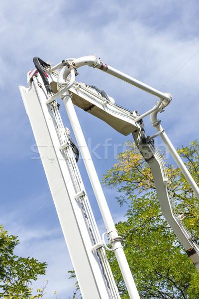 Pomper concrètes mixeur industrie machines ciment Photo stock © phbcz