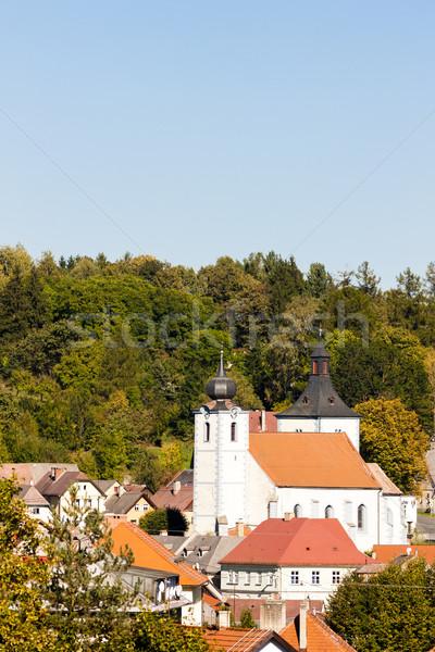 République tchèque maison église Voyage urbaine architecture Photo stock © phbcz