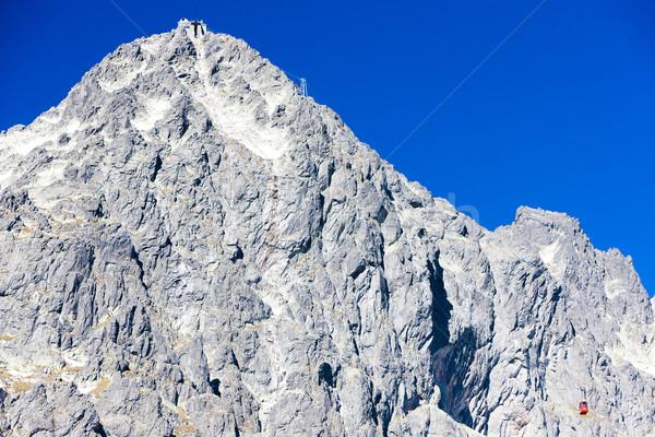 cable car to Lomnicky Peak, Vysoke Tatry (High Tatras), Slovakia Stock photo © phbcz