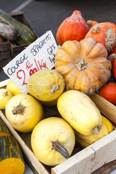 pumpkins, market in Forcalquier, Provence, France Stock photo © phbcz