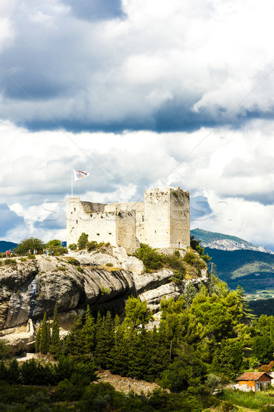 Stock photo: ruins of castle in Vaison-la-Romaine, Provence, France