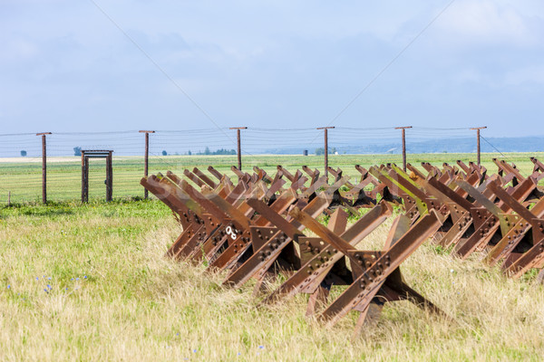remains of iron curtain, Satov, Czech Republic Stock photo © phbcz