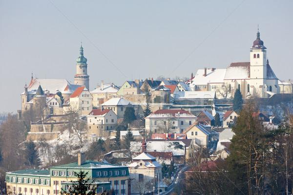 Сток-фото: зима · Чешская · республика · дома · здании · город · Церкви