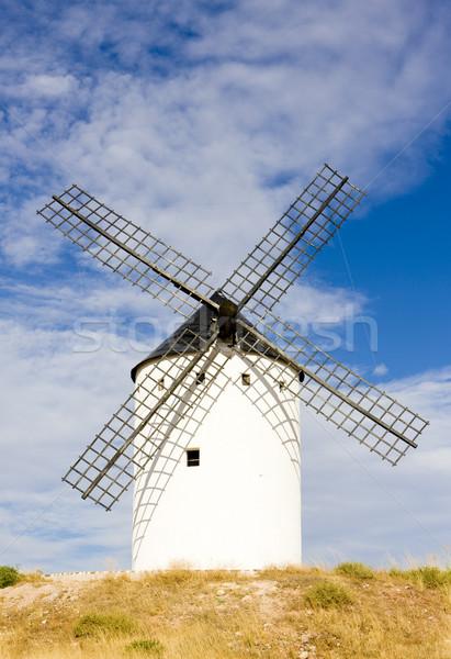 windmill, Alcazar de San Juan, Castile-La Mancha, Spain Stock photo © phbcz