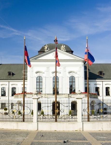 Presidencial palácio praça Bratislava Eslováquia Foto stock © phbcz