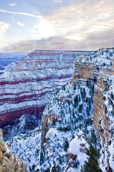 Grand Canyon parque inverno Arizona EUA paisagem Foto stock © phbcz