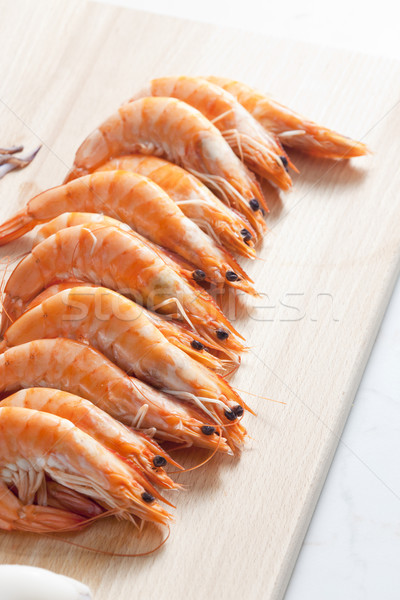 still life of raw prawns Stock photo © phbcz