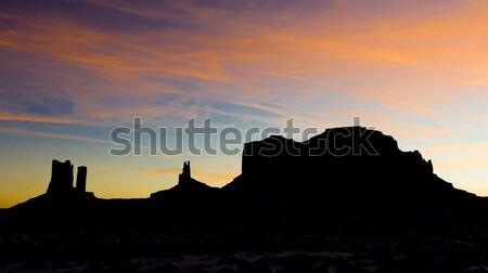 Monument Valley National Park after sunset, Utah-Arizona, USA Stock photo © phbcz