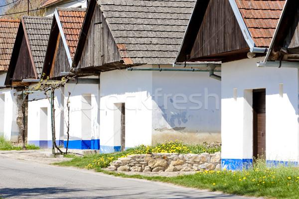 şarap Çek Cumhuriyeti mimari Avrupa açık havada Stok fotoğraf © phbcz