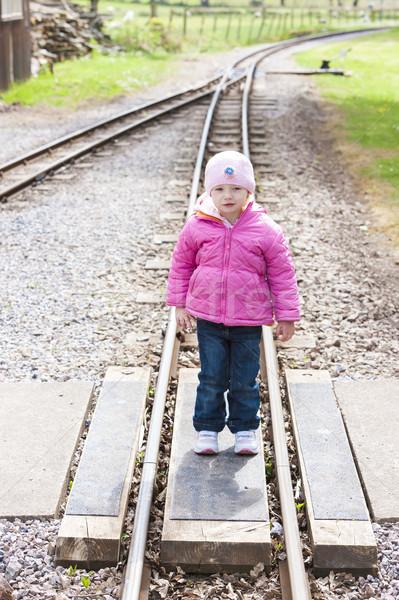 little girl at Ravenglass and Eskdale narrow gauge railway, Cumb Stock photo © phbcz