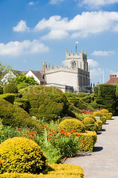 Yeni yer bahçe İngiltere Bina mimari Stok fotoğraf © phbcz