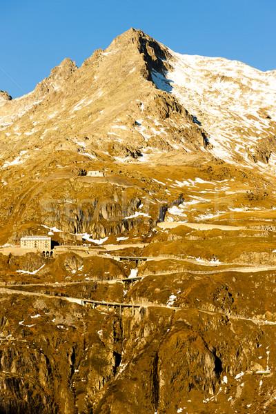 Hotel Suíça paisagem neve viajar montanhas Foto stock © phbcz