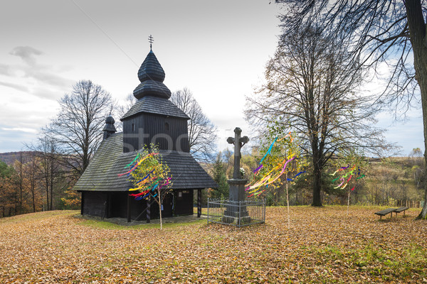wooden church, Ruska Bystra, Slovakia Stock photo © phbcz