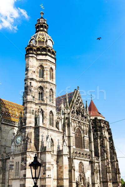 Kathedraal Slowakije kerk architectuur Europa Stockfoto © phbcz
