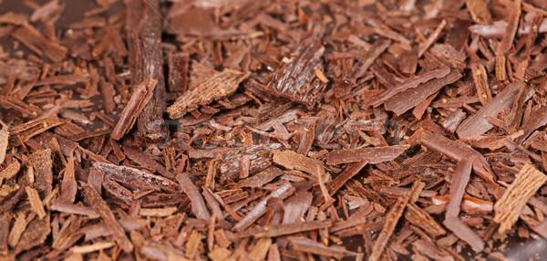 Stock fotó: Közelkép · csokoládés · sütemény · étel · csokoládé · desszert · édes